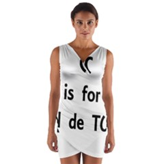 C Is For Coton Wrap Front Bodycon Dress