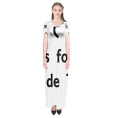 C Is For Coton Short Sleeve Maxi Dress