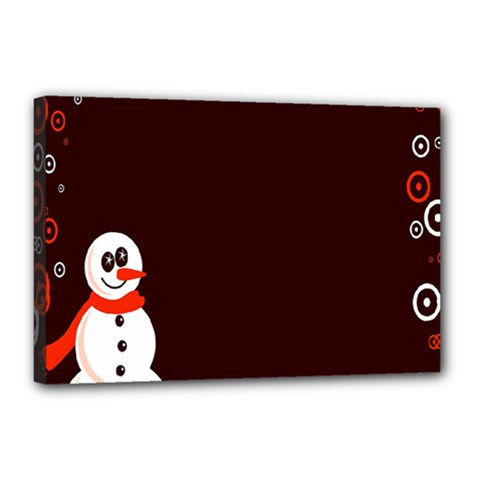 Snowman Holidays, Occasions, Christmas Canvas 18  x 12