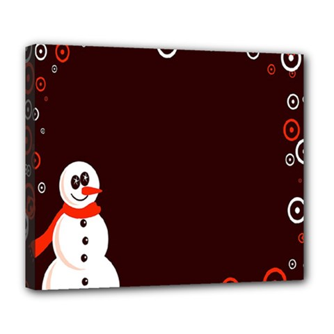 Snowman Holidays, Occasions, Christmas Deluxe Canvas 24  x 20
