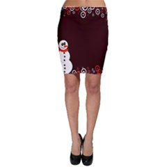 Snowman Holidays, Occasions, Christmas Bodycon Skirt