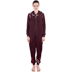 Snowman Holidays, Occasions, Christmas Hooded Jumpsuit (Ladies)