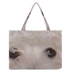 Coton De Tulear Eyes Medium Zipper Tote Bag