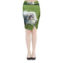 Coton In Grass Midi Wrap Pencil Skirt