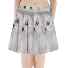 Coton Laying Pleated Mini Skirt