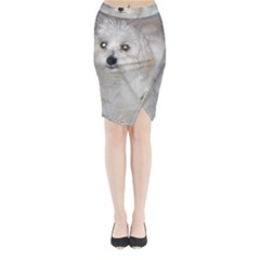 Coton Laying Midi Wrap Pencil Skirt
