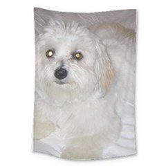 Coton Laying Large Tapestry