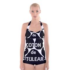 Coton Name Paw Boyleg Halter Swimsuit