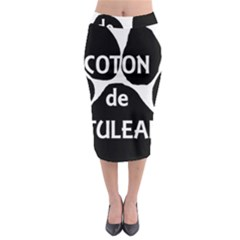 Coton Name Paw Midi Pencil Skirt