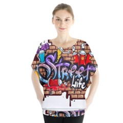 Graffiti Word Characters Composition Decorative Urban World Youth Street Life Art Spraycan Drippy Bl Blouse