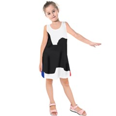Coton De Tulear Silo France Flag Kids  Sleeveless Dress