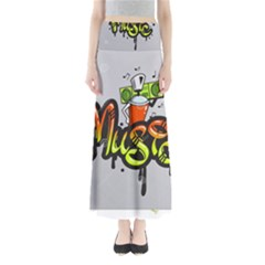 Graffiti Word Character Print Spray Can Element Player Music Notes Drippy Font Text Sample Grunge Ve Maxi Skirts