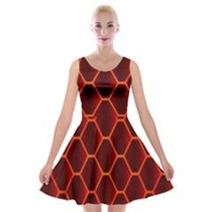Snake Abstract Pattern Velvet Skater Dress