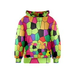 Stained Glass Abstract Background Kids  Zipper Hoodie