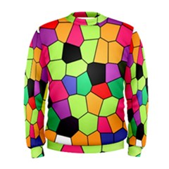 Stained Glass Abstract Background Men s Sweatshirt