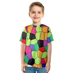 Stained Glass Abstract Background Kids  Sport Mesh Tee