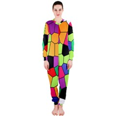 Stained Glass Abstract Background OnePiece Jumpsuit (Ladies)
