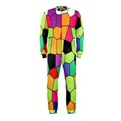 Stained Glass Abstract Background OnePiece Jumpsuit (Kids)