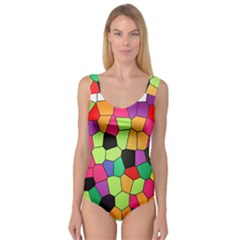 Stained Glass Abstract Background Princess Tank Leotard