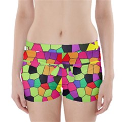 Stained Glass Abstract Background Boyleg Bikini Wrap Bottoms