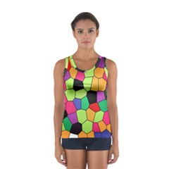 Stained Glass Abstract Background Women s Sport Tank Top