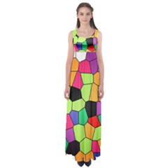 Stained Glass Abstract Background Empire Waist Maxi Dress