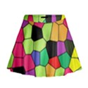 Stained Glass Abstract Background Mini Flare Skirt View1