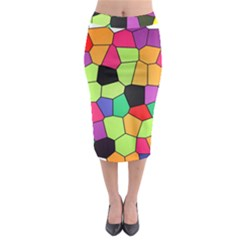 Stained Glass Abstract Background Midi Pencil Skirt