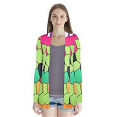 Stained Glass Abstract Background Cardigans