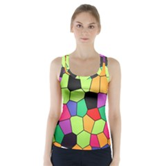 Stained Glass Abstract Background Racer Back Sports Top