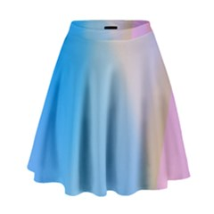 Twist Blue Pink Mauve Background High Waist Skirt