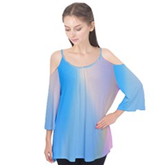 Twist Blue Pink Mauve Background Flutter Tees