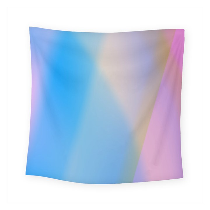 Twist Blue Pink Mauve Background Square Tapestry (Small)