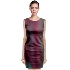 Stars Nebula Universe Artistic Sleeveless Velvet Midi Dress