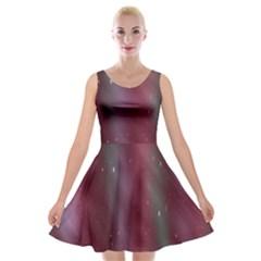 Stars Nebula Universe Artistic Velvet Skater Dress