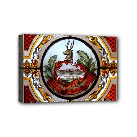 Stained Glass Skylight In The Cedar Creek Room In The Vermont State House Mini Canvas 6  x 4