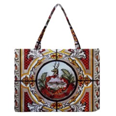 Stained Glass Skylight In The Cedar Creek Room In The Vermont State House Medium Zipper Tote Bag