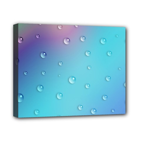 Water Droplets Canvas 10  x 8