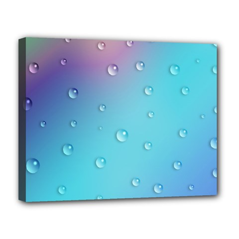 Water Droplets Canvas 14  x 11