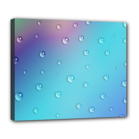 Water Droplets Deluxe Canvas 24  x 20