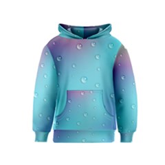 Water Droplets Kids  Pullover Hoodie
