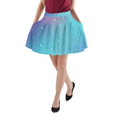 Water Droplets A-Line Pocket Skirt