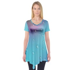 Water Droplets Short Sleeve Tunic