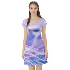 Abstract Graphic Design Background Short Sleeve Skater Dress