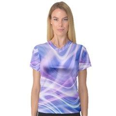 Abstract Graphic Design Background Women s V-Neck Sport Mesh Tee