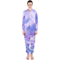 Abstract Graphic Design Background Hooded Jumpsuit (Ladies)