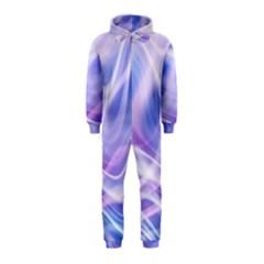 Abstract Graphic Design Background Hooded Jumpsuit (Kids)