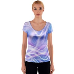 Abstract Graphic Design Background Women s V-Neck Cap Sleeve Top