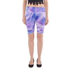 Abstract Graphic Design Background Yoga Cropped Leggings