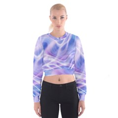 Abstract Graphic Design Background Women s Cropped Sweatshirt